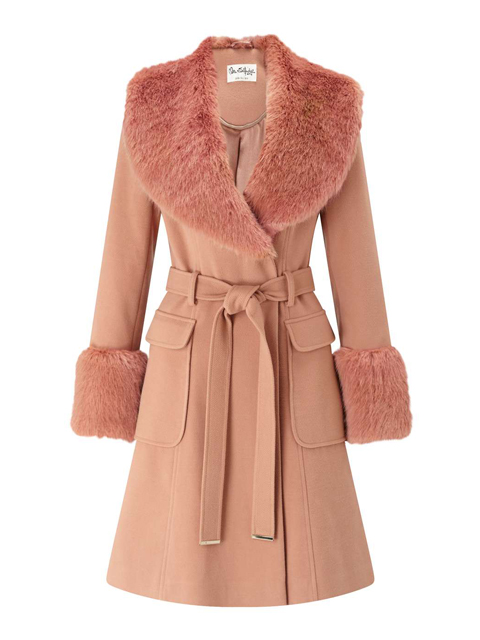 bc8de84a81dd faux fur cuff and collar coat miss selfridge | Maggie Semple