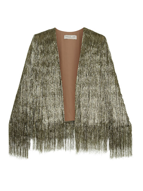 Isla Metallic Fringed Jacket | Rachel Zoe via Net-a-Porter | £ 555
