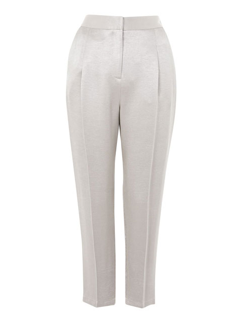 Metallic Suit Peg Trousers | Topshop | £45