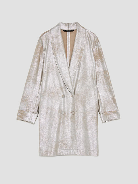 Metallic Faux Suede Jacket | Zara | £69.99