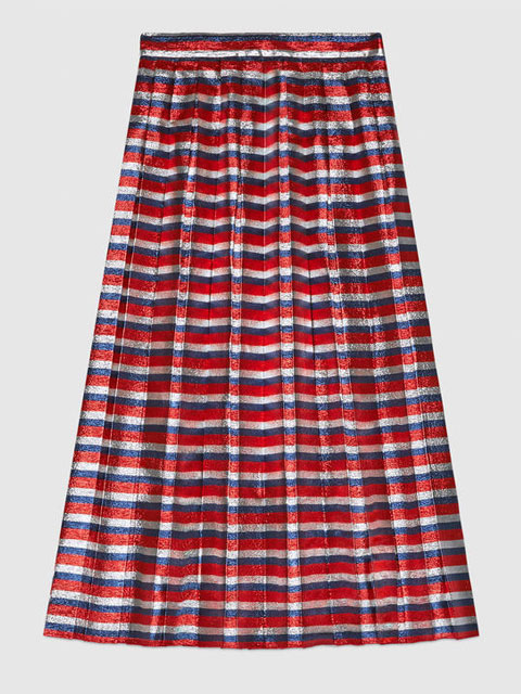 Sylvie Lurex Pleated Skirt | Gucci | £1220