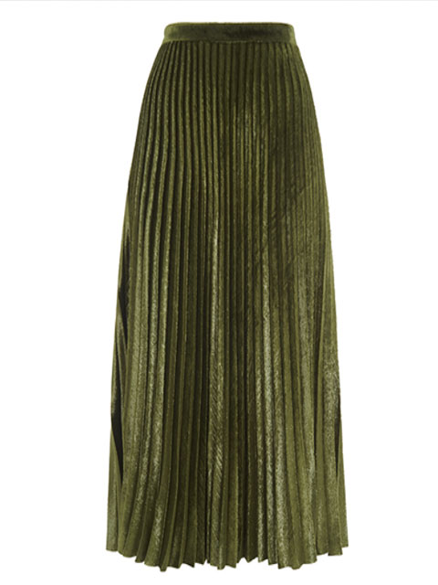 Kitty Metallic Pleated Skirt | Whistles | £149